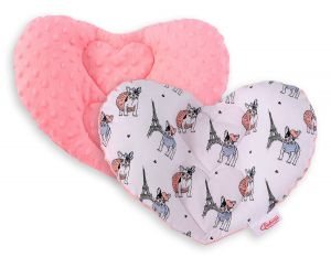 Double-sided Baby head support pillow - little doggies