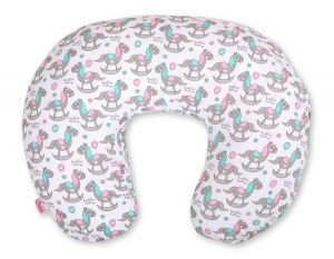 Extra cover for feeding pillow- rocking horses