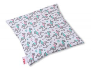 Pillow case -  rocking horses