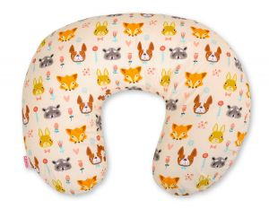 Extra cover for feeding pillow- cream animals