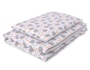 Bedding set 2pcs 100x135 Mini -hedgehogs grey