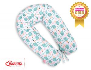 Pregnancy pillow - hedgehogs mint