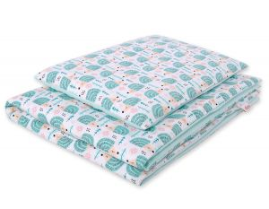 Bedding set 2pcs 100x135 Mini - hedgehogs mint
