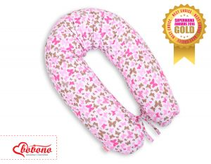 Pregnancy pillow -  pink butterflies