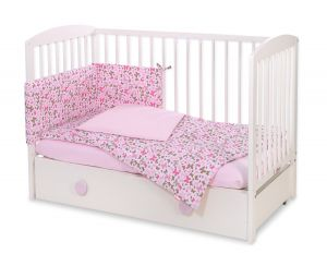 Bedding set 3-pcs - pink  butterflies