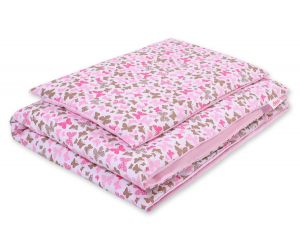 Bedding set 2pcs 100x135 Mini - pink butterflies