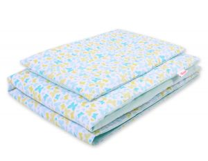 Bedding set 2pcs 100x135 Mini - blue butterflies