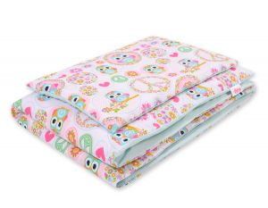 Bedding set 2pcs 100x135 Mini - funny owls