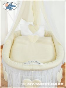 Bedding set 2-pcs for Moses Basket/Wicker crib no. 59582-142 or 79582-142