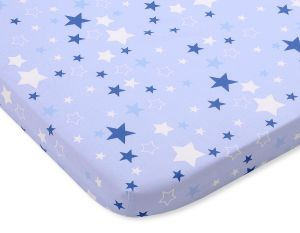 Sheet made of cotton 120x60cm- blue stars