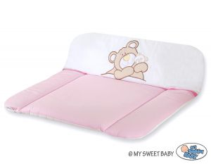 Soft changing mat- Teddy Bear Barnaba pink