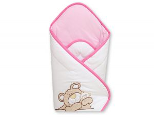 Babynest with stiffening- Teddy Bear Barnaba pink