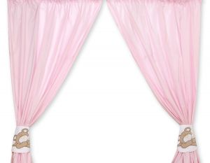 Curtains for baby room- Teddy Bear Baranaba pink