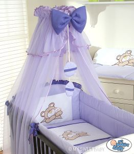 Bedding set 3-pcs (L60)- Teddy Bear Barnaba lilac