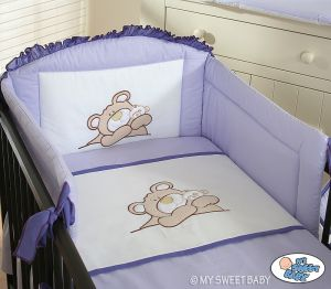 Bedding set 3-pcs (S60)- Teddy Bear Barnaba lilac