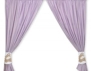 Curtains for baby room- Teddy Bear Baranaba lilac