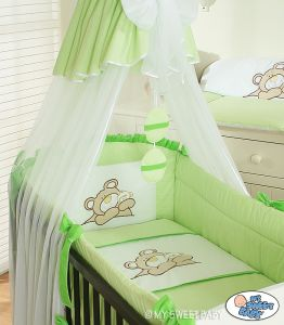 Bedding set 3-pcs (L60)- Teddy Bear Barnaba green