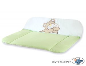 Soft changing mat- Teddy Bear Barnaba green
