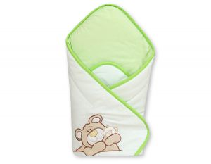 Babynest with stiffening- Teddy Bear Barnaba green