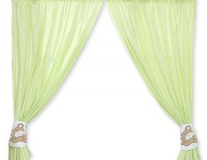 Curtains for baby room- Teddy Bear Baranaba green