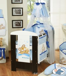 Canopy made of chiffon- Teddy Bear Barnaba blue