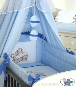 Bedding set 3-pcs (L60)- Teddy Bear Barnaba blue