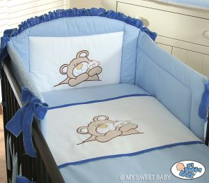 Bedding set 3-pcs (S70)- Teddy Bear blue