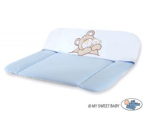 Soft changing mat- Teddy Bear Barnaba blue