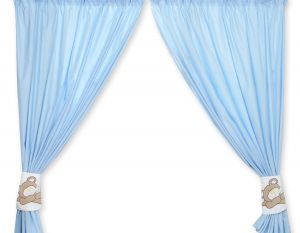 Curtains for baby room- Teddy Bear Baranaba blue