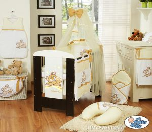 Bedding set 11-pcs with mosquito-net (S60)- Teddy Bear Barnaba cream