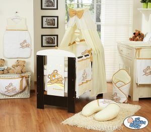Bedding set 11-pcs with canopy (L70)- Teddy Bear Barnaba cream