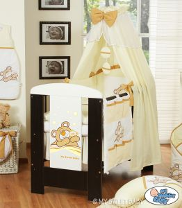 Bedding set 7-pcs with mosquito-net (S70)- Teddy Bear Barnaba cream