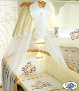 Bedding set 3-pcs (L60)- Teddy Bear Barnaba cream