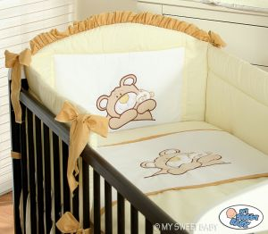 Bedding set 2-pcs- Teddy Bear Barnaba cream