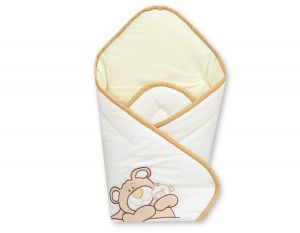 Babynest with stiffening- Teddy Bear Barnaba cream