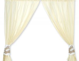 Curtains for baby room- Teddy Bear Baranaba cream