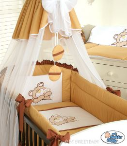 Bedding set 3-pcs (L60)- Teddy Bear Barnaba brown