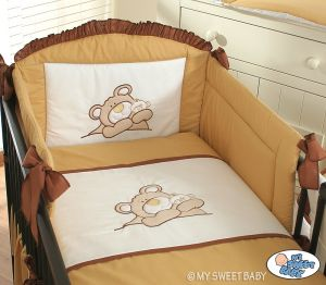 Bedding set 3-pcs (S70)- Teddy Bear brown