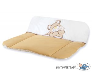 Soft changing mat- Teddy Bear Barnaba brown