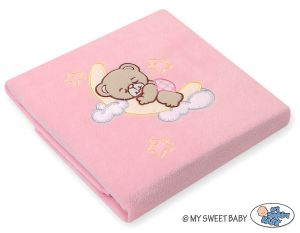 Polar fleece blanket- Good night pink