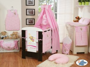 Bedding set 11-pcs with canopy(L60)- Good night pink