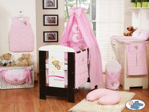 Bedding set 5-pcs with canopy (S60)- Good night pink