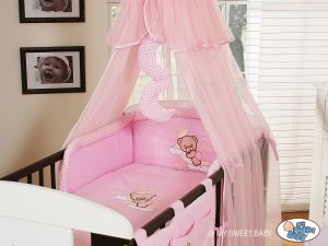 Bedding set 11-pcs with canopy (S60)- Good night pink