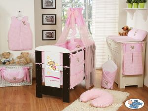 Bedding set 5-pcs with canopy (L70)- Good night pink
