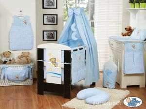 Bedding set 7-pcs with canopy (L70)- Good night blue