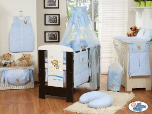 Bedding set 11-pcs with canopy (S70)- Good night blue