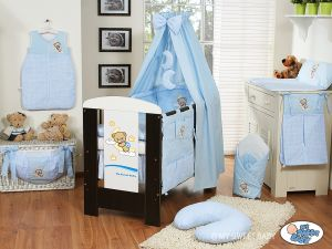 Bedding set 5-pcs with canopy (S60)- Good night blue
