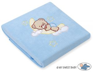 Polar fleece blanket- Good night blue