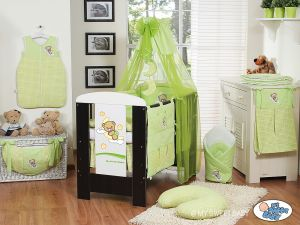 Bedding set 5-pcs with canopy (S60)- Good night green