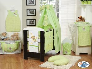 Bedding set 11-pcs with canopy(S60)- Good night green